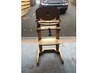 Bebe comfort solid wooden high chair