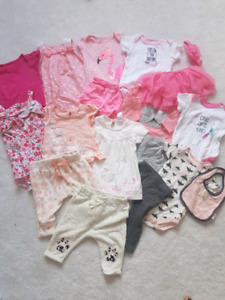 HUGE lot of baby girl clothes 3-6 months