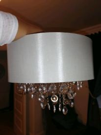 Silver ceiling light lamp shade