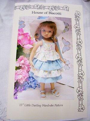 "Effner 13"" Little Darling Wardrobe PATTERN, Skirt, Pants, Tops, Hat"