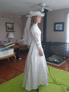 Southwestern Wedding Gown with Hat