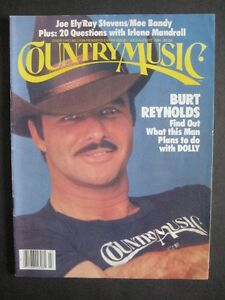 MAGAZINE COUNTRY MUSIC.BURT REYNOLDS. 1981.