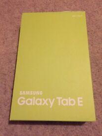 Brand New: Samsung Galaxy Tab E 8GB Metallic Black