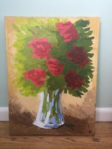acrylic palette knife painting