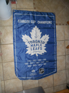 Toronto Maple Leafs Stanley Cup Winning Banner Flag Molson Beer