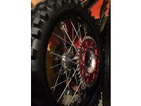 Suzuki rmz talon wheels with rear tyre sprocket and brake disc