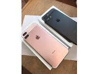 Iphone 7 plus 256gb ROSE GOLD unlocked with Apple waranty