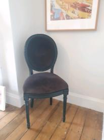 Black statement chair