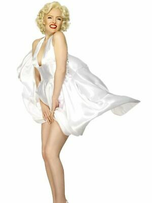 Womens Marilyn Monroe Classic White Dress Fancy Dress - Fancy Dress Marilyn Monroe
