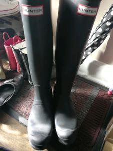 Hunter bottes noir mat comme neuves
