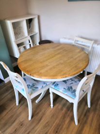 Dining table and chair set shabby chic Country style