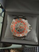 Android Divemaster Silverjet 500 Skeleton Orange automatic watch