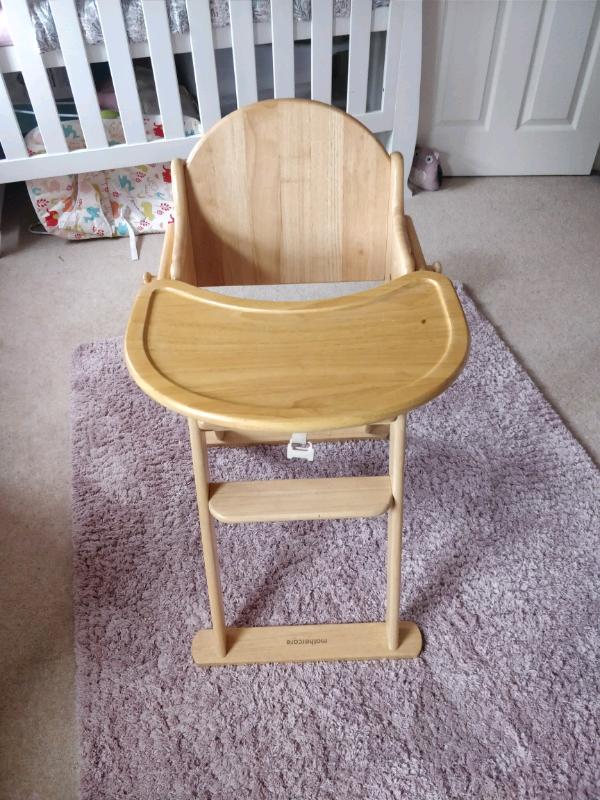Mothercare wooden highchair | in Northampton, Northamptonshire | Gumtree