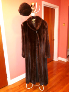long female mink coat