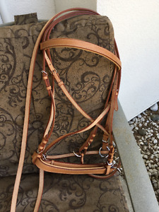 Leather bitless bridle, never used, warmblood/large horse