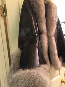 Danier Leather Jacket with real Fox fur London Ontario image 2