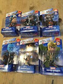 6 Disney Infinity figures NEW