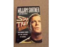 William Shatner 'Star Trek Memories' book, VGC