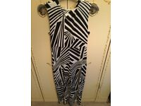Formal, Casual, Cruise Dress - Size 16 - Black & White