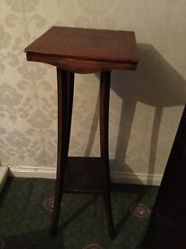 Wooden table ideal for lamps or floral arrangements