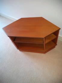 Wood TV/ Video Corner Unit