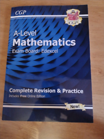 Revision books: Edexcel A- Level Maths revision guide and work book