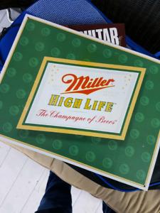 Metal Miller High Life bar sign