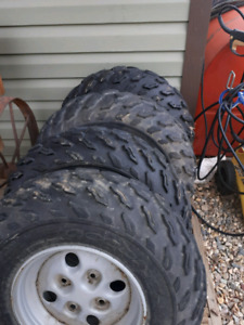 4 arcticat atv rims and tires