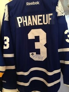 Phaneuf Toronto Maple Leafs Autographed Jersey