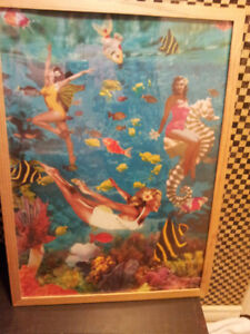 Vintage Ikea Swimming Ladies Framed poster