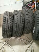 set of 4 Toyo 265/75/16 winters on alloy rims with sensors $850