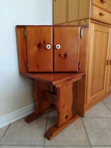Handcrafted solid wood corner cabinet