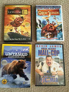 """Set of 4 DVD's $10.00-  Check out selection of DVD""""s!"""