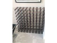 Wood and metal wine rack John Lewis 72 bottle