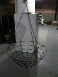 """TWO 16 """" WIRE HANGING BASKETS"""