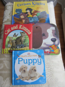 4 Board books - puppies and kittens   Great condition.