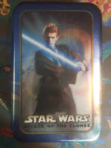 Star Wars Attack Of The Clones Topps Trading Cards Tin