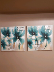 Pair of painting on canvas
