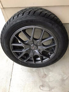 Winter tires and Rims from Mazda 3 205 55R16 Regina Regina Area image 2