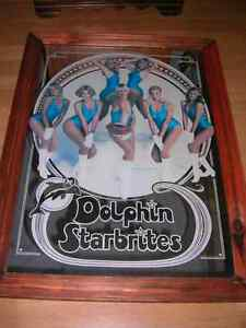 "NFL.Miami Dolphins ""RARE"" 1978 ""Dolphin Starbrites"" Large Mirror"