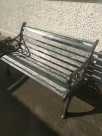 Original Cast Iron Garden Bench