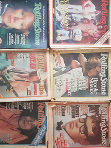 Rolling Stone Magazine 70s and early 80s 10 total