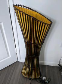 Rustic Wicker Floor Lamp