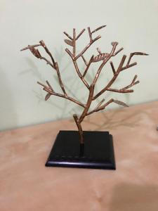 Metallic Tree Jewlery Hanger