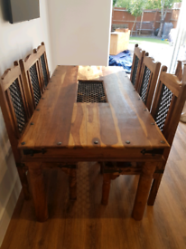 Dining set - table, 6 chairs and sideboard
