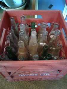 Lots of old antique bottles