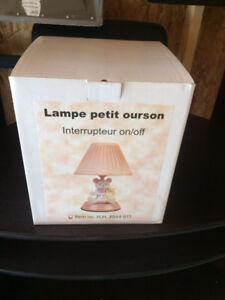 Children's teddy bear lamp - pink