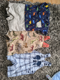 3 short baby boy dungarees size 3_6 months