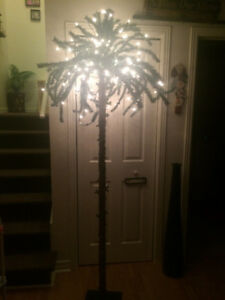 7' outdoor/indoor tropical summer/Christmas palm tree $70 OBO