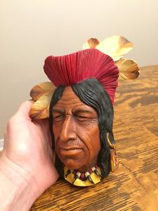 Tecumseh Native American Indian Head - BOSSONS